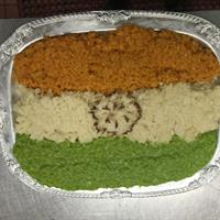 The flag of India, courtesy of Chef Gehrett