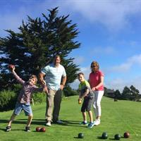 Family Bocce Ball during Sunday FunDay